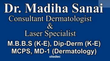 Dermatologist at Lahore Laser Lahore Dr. Madiha Sanai